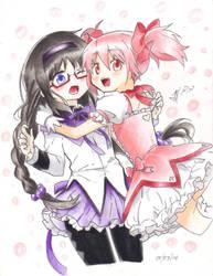 Akemi y Madoka by AliiFigueraApl