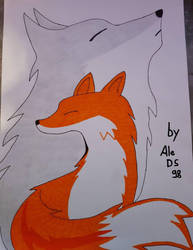the fox with its spirit. by AleDS98