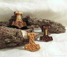 Thor's hammers by AmberSculpture