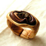 Bracelet 249 Amber and Wood by AmberSculpture