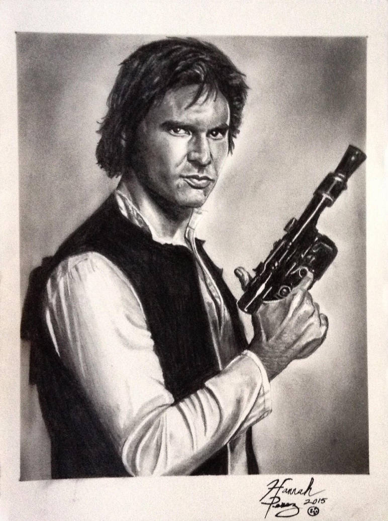 Han Solo Graphite Drawing by imatuffcookie