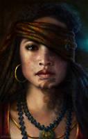 Maori Pirate Princess by ArtByNath