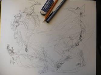 Dragon-Bird Beast WIP by ImmaCatastrophe