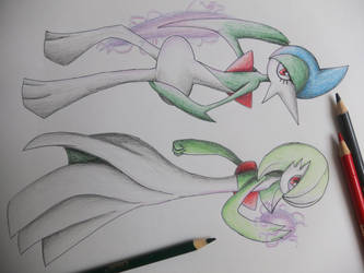 Gardevoir and Gallade by ImmaCatastrophe