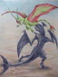 Flygon VS Garchomp by ImmaCatastrophe