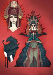 Queen Character design by EskarArt