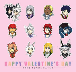 Happy Valentine's Day, Clockhearts by creamteacookie