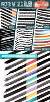Vector Artists Brush Bundle by Jeremychild