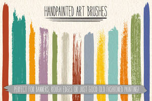 Hand-painted Art Brushes by Jeremychild