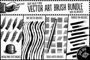 Vector Art Brush Bundle by Jeremychild