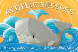 Acrylic Brushes by Jeremychild