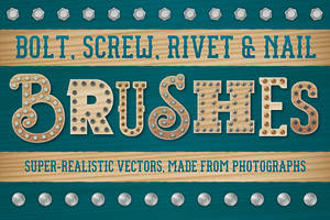 Bolt, Screw, Rivet and Nail Brushes by Jeremychild