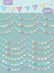 FREE Illustrator Bunting Brushes by Jeremychild