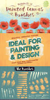 Painted Canvas Brushes by Jeremychild