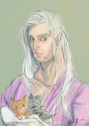 He loves kittens by Mademoiselle-Moder