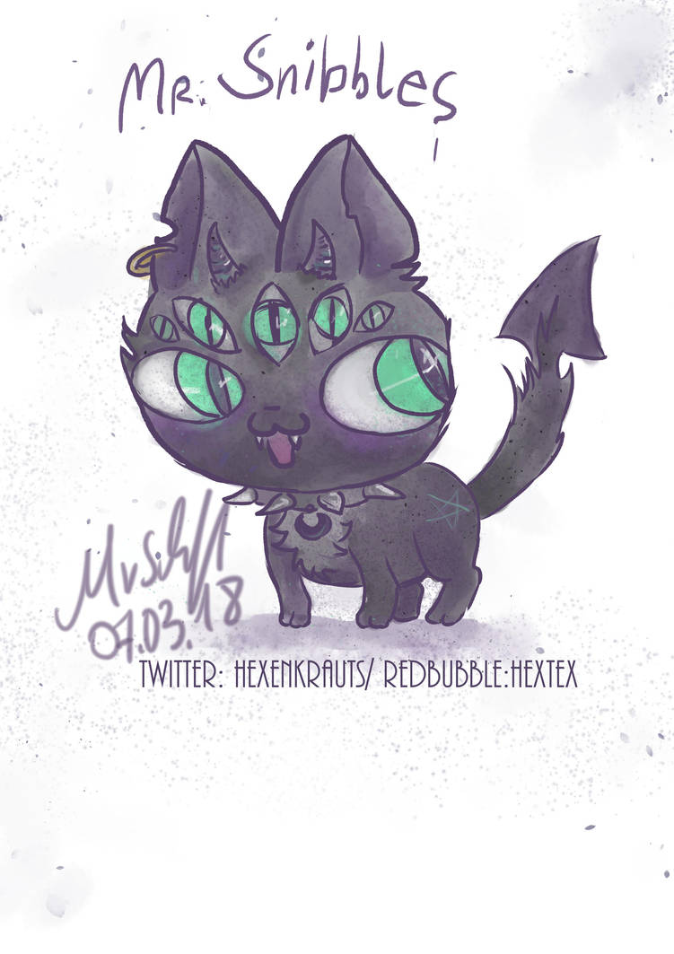 Mr. Snibbles demonic kawaii by Mademoiselle-Moder