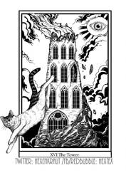 The Tower Tarot Card by Mademoiselle-Moder