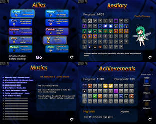 FCS3: Some menus by ClemiNeko