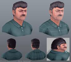 Male Bust by Alemja