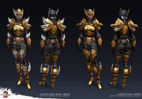 Guild Wars 2 - Glorious Medium Armor by Alemja