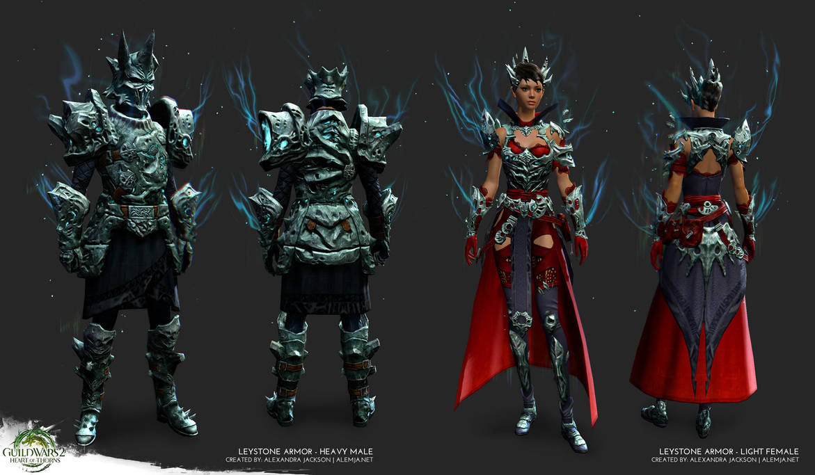 Guild Wars 2 Heart Of Thorns Leystone Armor By Alemja On Deviantart