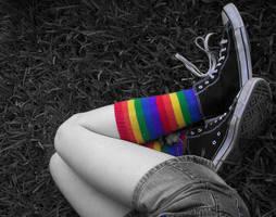 Rainbow Socks by Illusive-Dreamer