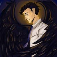Fallen angel by Celle-Kurochan