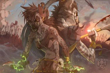 'Now we'll bring them the pain...' by MajinBanzai