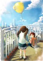 Yellow Balloon by darkmello
