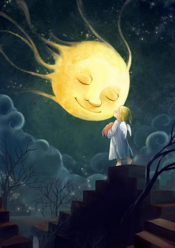 Good Night Mrs.Moon by darkmello