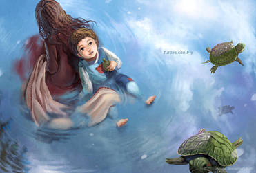 Turtles can Fly by darkmello