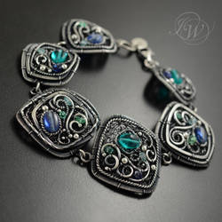 BLUEBELLS - filigree bracelet by JoannaWatracz