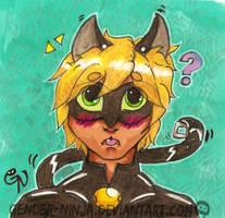 Chat Noir Blep by Gender-Ninja