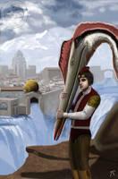 Dinotopia Skybax Rider Illustration by RaptorArts