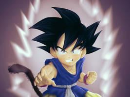 Goku Gt Kid Full Energy by KhaledReese