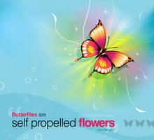 Flower flight by pulsetemple