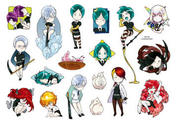 Houseki no Kuni stickers sheet by chernotrav