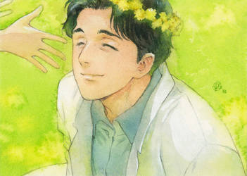 Flower crown for doctor Tenma by chernotrav