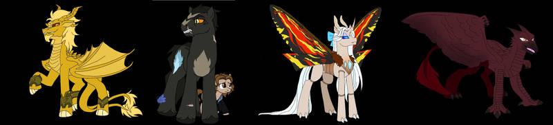 KotM pony versions by FallenAngel5414