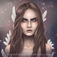 Cara Delevingne color by peacestream