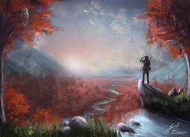 Crimson Valley by peacestream