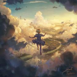 Like a feather through a dream by peacestream
