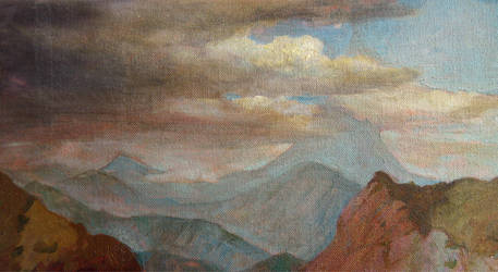Clouds and mountains by OgRuAr