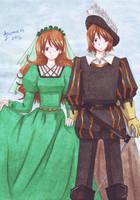 Twelfth night: Sebastian and Viola by Vestal-Spirit