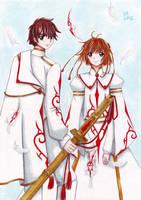 Tsubasa and princess Tsubasa by Vestal-Spirit