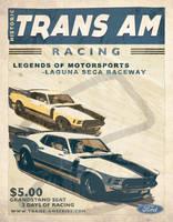 Vintage Race Poster 3 by nascar3d