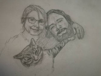 Selfie family portrait by ravenmorghane