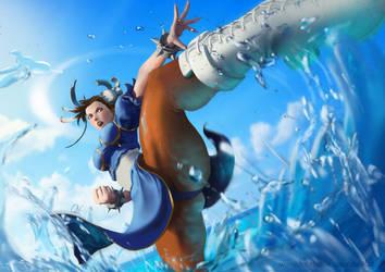 Chun Li Splash! by quvi