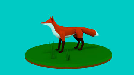 lowpoly fox by Mr-M818 by Mr-M818