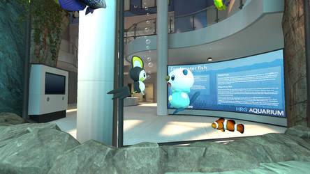 Emolga and Oshawott in the aquarium (view 1/4) by kuby64